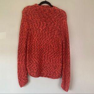 Co & Eddy Woven Mock Neck Sweater Size L